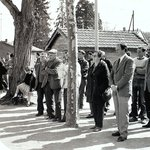 1995 : le public pendant l'inauguration du local boules